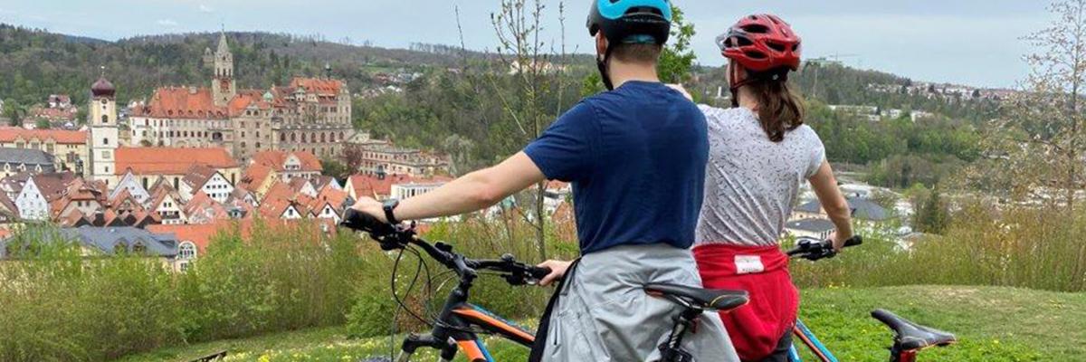 Mit dem Bike am Schloss Sigmaringen